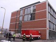 Zásah pyrotechniků v budově fakulty technologické ve Zlíně.