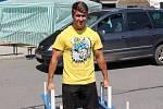 Dvacetiletý Petr Vlček se silovému sportu věnuje už pět let.