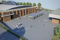 Vizualizace plánované rekonstrukce Zimního stadionu Luďka Čajky ve Zlíně