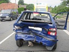 Úterní nehoda v Zádveřicích: Dva zranění skončili v nemocnici