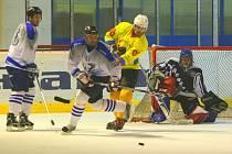 Utkání amatérských hokejistů.Ilustrační foto