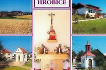 Pohlednice obce Hrobice.