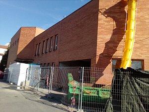 Dům kultury ve Vizovicích prochází opravami.