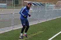 Fotbalisté Zlína v sobotu na Vršavě zahájili zimní přípravu. Na snímku je Petr Jiráček.