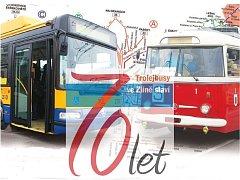 Trolejbusy ve Zlíně a Otrokovicích v pondělí oslaví 70 let provozu