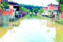 Záplavy v Otrokovicích v roce 1997.