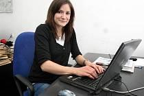 Kristýna Salčáková při on-line rozhovoru v redakci Zlínského deníku.