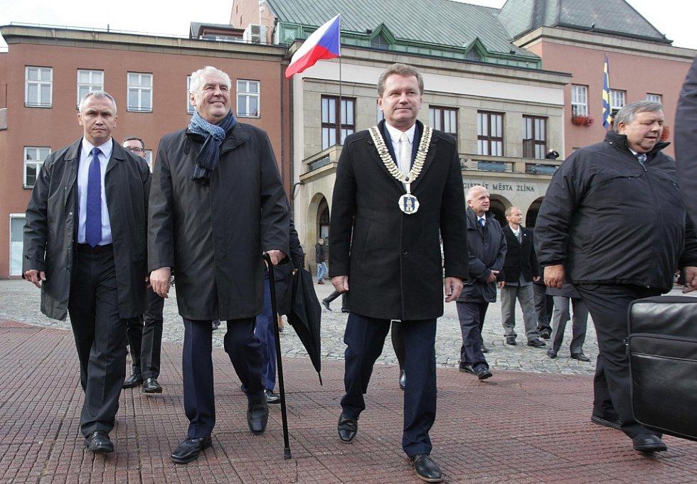 Návštěva prezidenta Miloše Zemana ve Zlínském kraji.