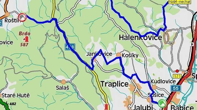 11. a 14.  Kudlovice (22,57 km), neděle 9.46 a 13.05