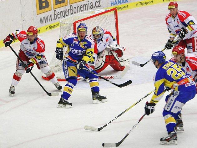 Extraligoví hokejisté Zlína se střetli v rámci 38. kola nejvyšší soutěže s Českými Budějovicemi.