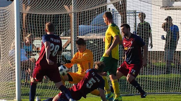Fotbalisté Štípy ve 4. kole okresního přeboru deklasovali Jasennou 10:1.