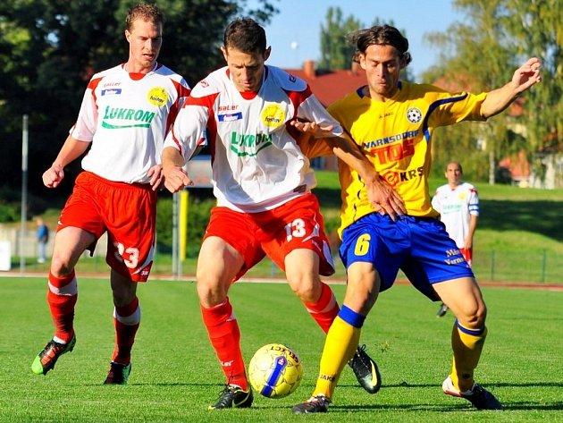 FC Fastav Zlín v zápase s Varnsdorfem. Ilustrační foto