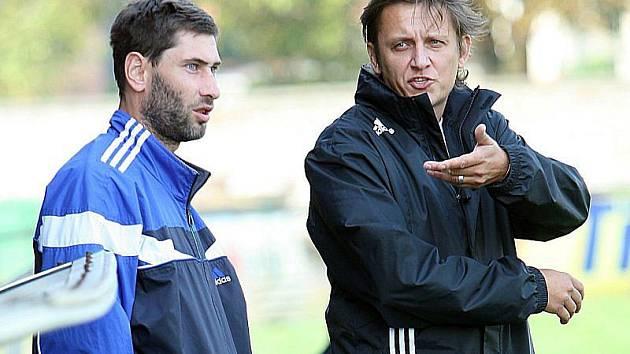 Bývalý trenér Napajedel Martin Onda (vpravo).