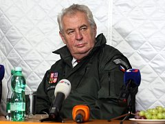 Prezident ČR Miloš Zeman ve Vrběticích.