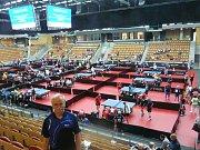 foto Karla Sekaniny z ME Masters stolních tenistů 2017.
