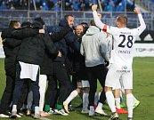 Radost Slovácka z vítězství v derby.