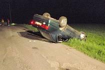 Mezi obcí Hvozdná a Veselá došlo k havárii osobního auta zn. Seat Toledo.