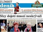 Prezident Miloš Zeman se zdraví se svými příznivci