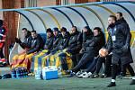 Fotbalisté Zlína (ve žlutých dresech) v 18. kole FORTUNA:LIGY hostili na Letné sousední Slovácko.
