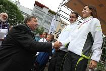 Hry VI. letní olympiády dětí a mládežě ČR ve Zlínském kraji.  Slavnostní ceremoniál na náměstí Míru ve Zlíně.