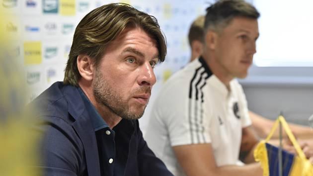 Sportovní manažer fotbalového klubu FC Fastav Zlín Zdeněk Grygera na tiskové konferenci k zahájení sezony.