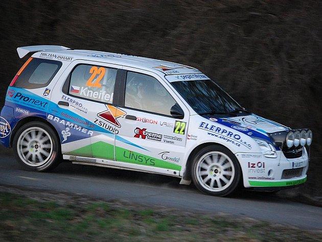 Milan Kneifel na 29. ročníku Valašské rally. Ilustrační foto.
