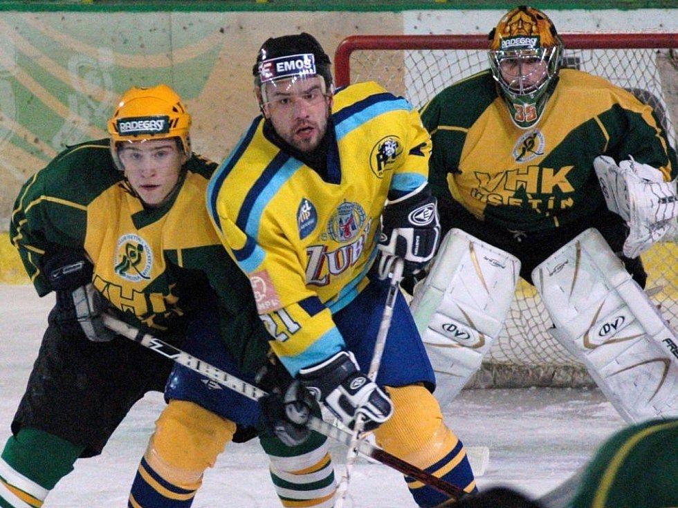 Hokejové utkání Vsetín - Přerov