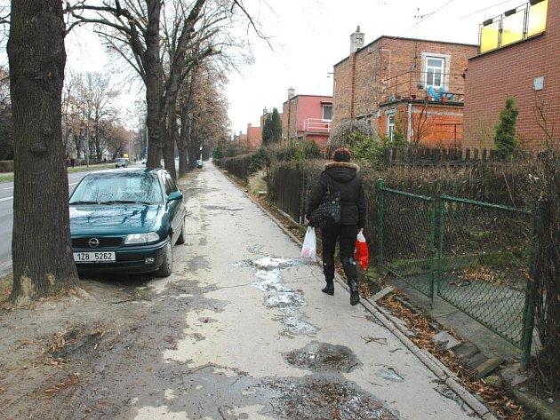 Pojezdový chodník mohou využívat šoféři i chodci.