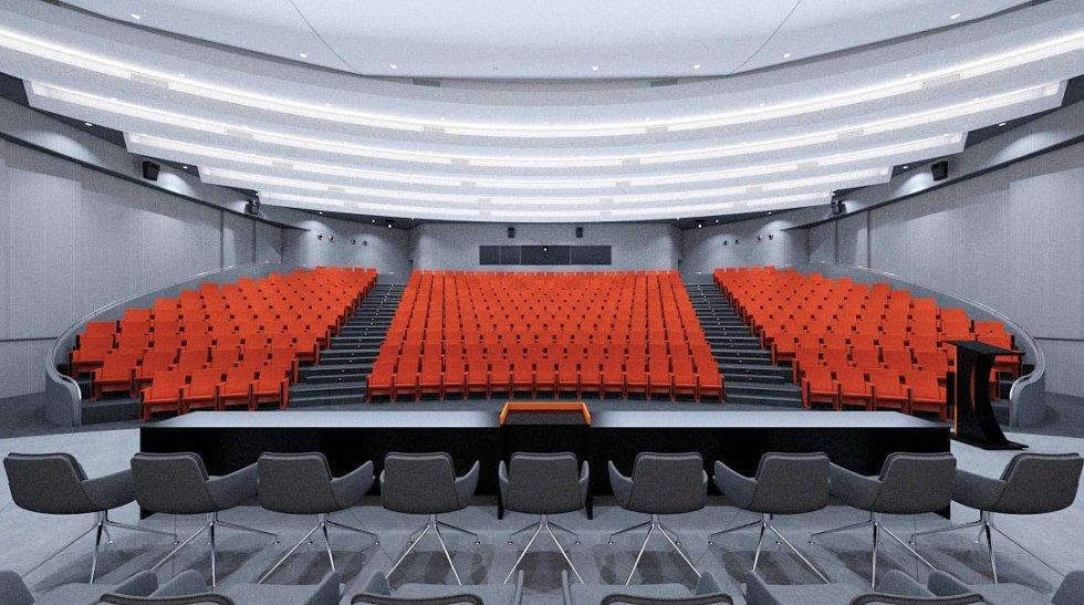 Aula Academia centra zlínské Univerzity Tomáše Bati získává budoucí podobu