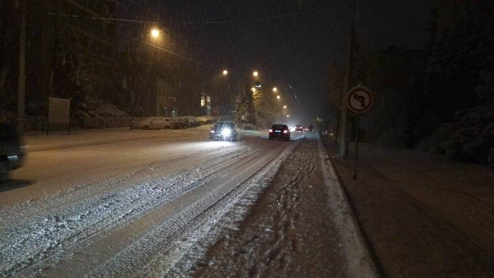 Dopravní situace ve Zlíně 28. 1. 2019