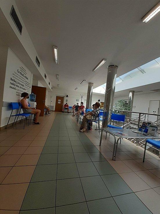 Očkovací centrum v Luhačovicích. 21. 7. 2021