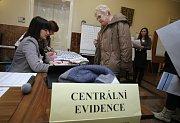 Druhé kolo prezidentských voleb 2018 na  magistrátu městského úřadu, centrální evidence