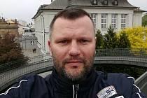Trenér fotbalistů Újezdu Ivan Pecha.