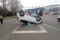 Zlín, dopravní nehoda u Rya, 7. prosince 2020.fofo zdroj: HZS ZLK.