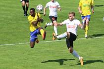 Fotbalisté Zlína (ve žlutých dresech) ve 31. kole FORTUNA:LIGY hostili poslední Opavu.