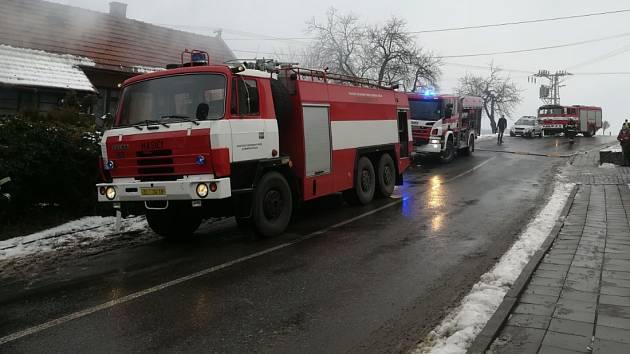 Požár stodoly v Křekově