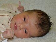 Natálie Šranková ze Zlína se narodila 16.1.2012, 3140 g a 51 cm