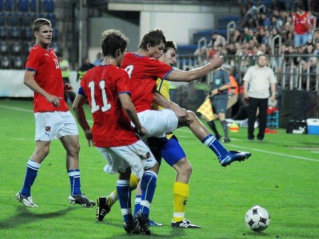 V Uherském Hradiště se uskutečnilo kvalifikační utkání fotbalistů do 21 let na mistrovství Evropy Česko - Ukrajina