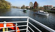 Naučná plavba pro školy na Baťově kanálu a řece Moravě v Uherském Hradišti.