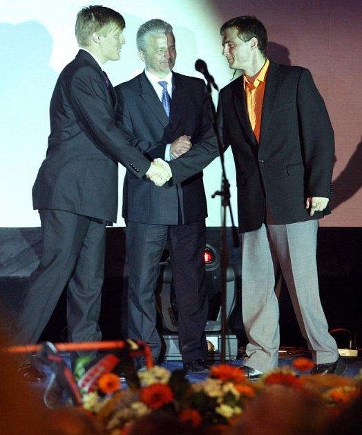 Sportovec roku Zlínského kraje 2008 - Filip Coufal (vpravo).
