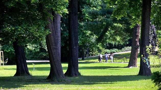 Park Sad svobody ve Zlíně.