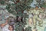 Znovuotevření haly Vincentky v Luhačovicích.Keramická mozaika.