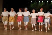 Na plese vystoupily hulínské mažoretky i tlumačovské seniorky