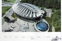 Kongresové centrum - vizualizace; Zdroj: Statutární město Zlín