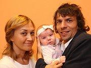 Vítání občánků na radnice 25. 9. 2015 ve Zlíně.  Tomáš, Katarina a dcera Sofie Krejčí.
