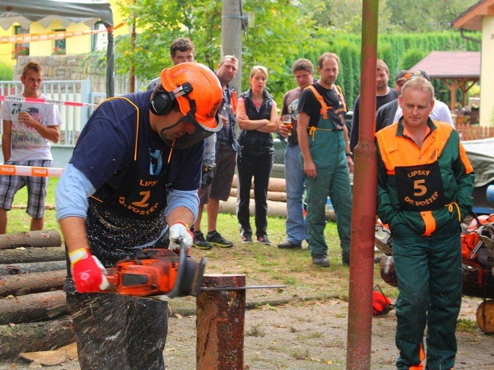 Třetí ročník dřevorubeckých závodů Dr. Voštěp v Lípě