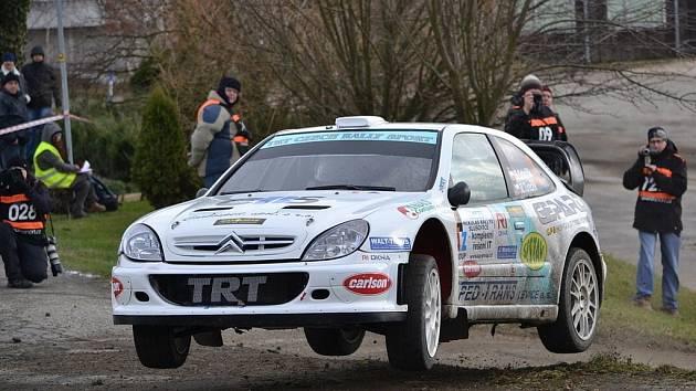 Mikuláš Zaremba Rally ve Slušovicích - Vítěz soutěže Roman Odložilík