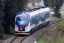 Nová motorová jednotka LINK II 844 na trati s Otrokovic do Zlína