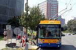 Oprava a náhradní provoz zastávky MHD na ulici Štefánikova ve Zlíně.