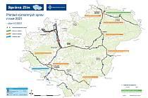 Předběžný plán oprav komunikací prvních tříd v kraji pro rok 2021 představilo vedení zlínské správy Ředitelství silnic a dálnic (ŘSD).